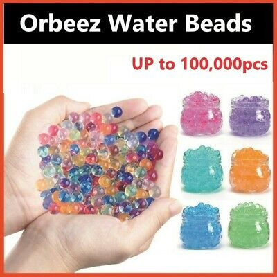 AU5.99 • Buy 10000+Pcs Water Bead Gel Balls Orbeez Crystal Soil Plant Wedding Decoration Home