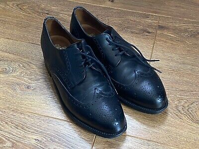 £50 • Buy Sanders Brogue Leather Dress Shoes Size 9