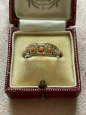 £175 • Buy Victorian 15ct Gold Coral Ring. Size L