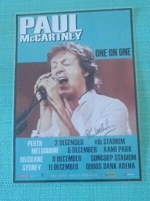 AU26.95 • Buy Paul Mccartney - 2017 Australia Tour - Signed Autographed Laminated Tour Poster
