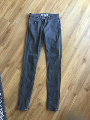 £11.99 • Buy Topshop Moto Grey Supersoft  Skinny Leigh Jeans - Size W26, L32 Ladies