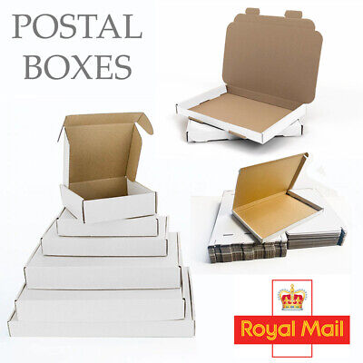 £19.99 • Buy Royal Mail Small Shipping Cardboard Die Cut Boxes Fo  Parcel & Large Letter Post