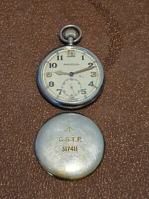 Jaeger-leCoultre WW2 Military GSTP Pocket Watch In Working Order, Superb Example • 225£