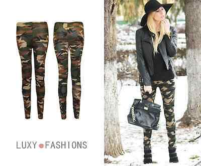 £3.98 • Buy New Ladies Womens Camouflage Camo Army Military Print Trousers Pants Leggings