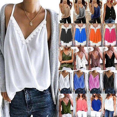 £11.20 • Buy Womens Summer Sleeveless Cami Tops Strappy Vest T-Shirt Casual Camisole Blouse