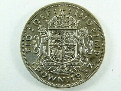 AU1.78 • Buy 1937 King George VI  Silver Crown 5/- Five Shilling Coin
