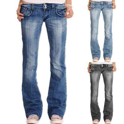 £22.51 • Buy Plus Size Womens Low Rise Denim Jeans Pants Casual Embroidered Trousers Bottoms