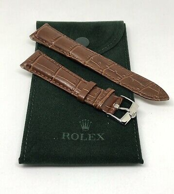 $ CDN163.28 • Buy ROLEX Watch Band 20MM Brown Leather With Steel Buckle & ROLEX Suede Pouch