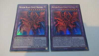 METEOR BLACK COMET DRAGON X2 GFTP 1st EDITION ULTRA RARE YUGIOH *NEW & MINT* • 4.99£