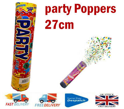 £3.95 • Buy Party Poppers Compressed Air Cannons Wedding, Birthday, Party Item