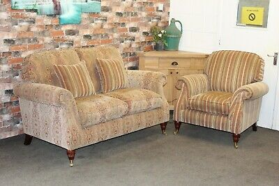 £1199 • Buy Parker Knoll Westbury 2 Seater Sofa & Chair In A The Baslow Gold Fabric