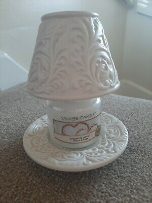Yankee Candle Rare Small Shade And Tray Set. Candle Not Included • 18£