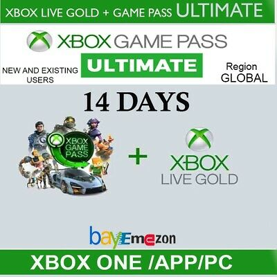 $ CDN2.97 • Buy Xbox Live Gold + Game Pass (Ultimate) 14 Day 2 Weeks Trial Code Instant Delivery