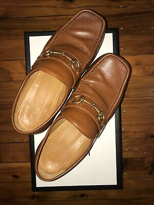 AU400 • Buy Gucci Camel Leather Size 43 Loafers