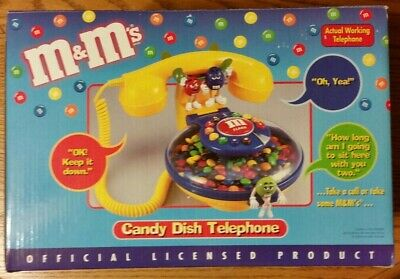 $32 • Buy VINTAGE M&M Candy Dish Corded Telephone Phone Collectible NOS