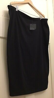 AU17.50 • Buy Asos Curve Black Tube Midi Skirt Size 24 BNWT