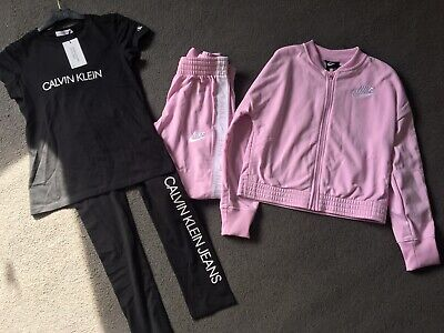 Grils Nike Tracksuit M And Calvin Klein Set 12 Bn • 25£