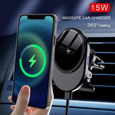 AU22.99 • Buy 15W QI Magnetic Wireless Car Charger Air Vent Mount Holder For IPhone 12 Pro Max