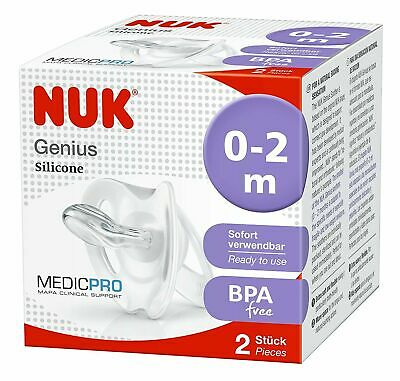 £7.99 • Buy NUK Medic Pro Genius Soother Dummy For Premature And Newborn (0 To 2m Pack Of 2)