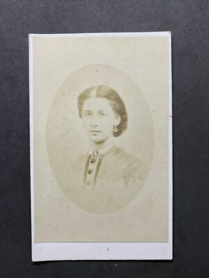 Victorian Carte De Visite CDV: Young Lady: Named Sarah Ladds? Died 1872 2 Of 2 • 2.50£