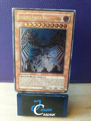 Yu-Gi-Oh SOVR-EN026 Earthbound Immortal Wiraqocha Rasca, Ultimate Rare EX+ • 14.99£