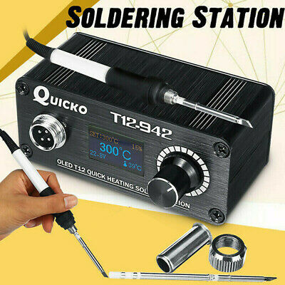 £28.25 • Buy Portable Quicko T12-942 OLED Digital Soldering Station Handle Iron Tips Welding