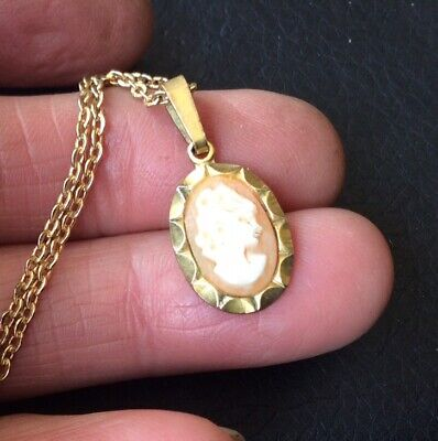 Pretty Vintage Rolled Gold Cameo Bracelet Signed Foreign A*D • 8£