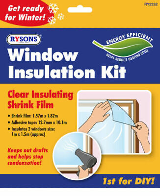 £2.59 • Buy Window Insulation Kit Double Glazing Shrink Film Draught Excluder Condensation