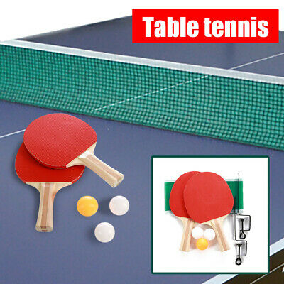 AU17.98 • Buy Indoor Games Sport Portable Table Tennis Net Bracket Ping-Pong Paddles Kit Set