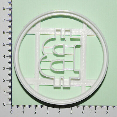 £4.60 • Buy Bitcoin Cookie  Cutter 3d Printed