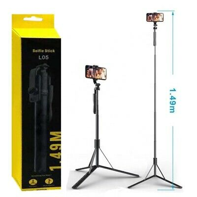 AU35.99 • Buy 150cm Long Selfie Stick Tripod Stand With Wireless Remote For Mobile Phone Gopro