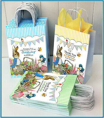 £1.30 • Buy Peter Rabbit Personalised Party Gift Bag: 1st Birthday, Christening, Baby Shower