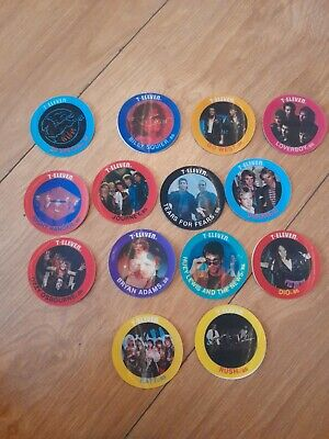 AU5.33 • Buy Vintage 7 Eleven American Music Bands Lenticular Trading Stickers 1985