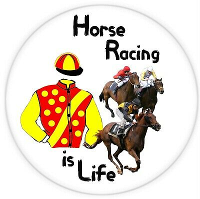 £2.29 • Buy Horse Racing Is Life -  Large Fun Novelty Souvenir Fridge Magnet / New / Gifts