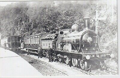 Caledonian Railway Locomotive No 115 At Callander   Rp Photo • 1.10£