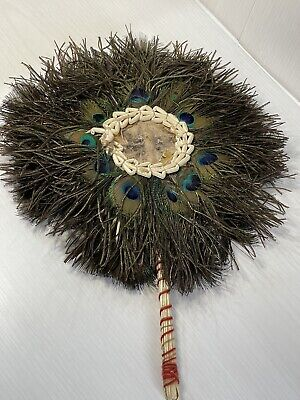 £65 • Buy Antique Victorian Peacock Feather Fan