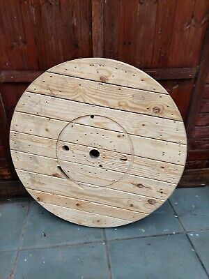 Extra Large Wooden Cable Drum Reel Top 120cm Diameter • 50£