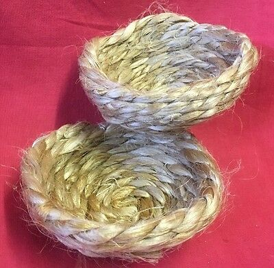 2 Jute Sisal Thick Soft Liner Breeding Nest Pans Felts Finches Canaries 4.5 X 2  • 5.99£