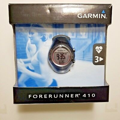 £54.02 • Buy GARMIN FORERUNNER 410 GPS-ENABLED SPORTS / FITNESS WATCH W/ HRM & USB ANT STICK