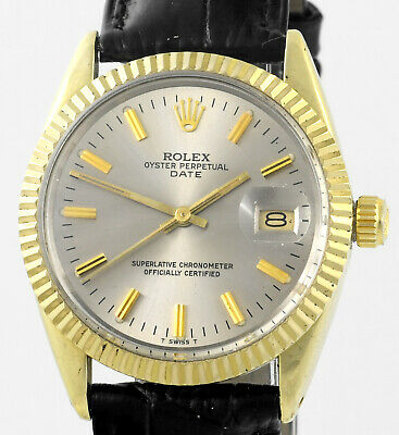 AU4999.98 • Buy Vintage ROLEX Oyster Perpetual Date Gold Capped 15505 Mens Wrist Watch 1982
