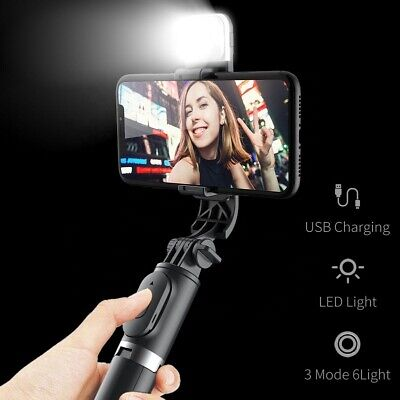 AU19.49 • Buy 3 In 1 Tripod Selfie Stick With Bluetooth Remote LED Fill Light For Smartphone