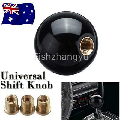 AU19.95 • Buy Universal Black Round Ball Gear Shift Knob Shifter Lever & M8/10/12 Adapter A