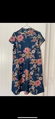 AU20 • Buy ASOS Maternity Friendly High Neck Floral Swing Dress Size 10