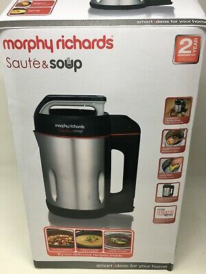 £34 • Buy Morphy Richards 501014 Sauté And Soup 1.6 Litres Soup Maker Stainless Steel #189