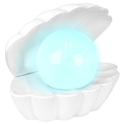 £12.55 • Buy Pearl Shell Colour Changing Mood Night Light Iridescent Desktop Lamp Tray LED