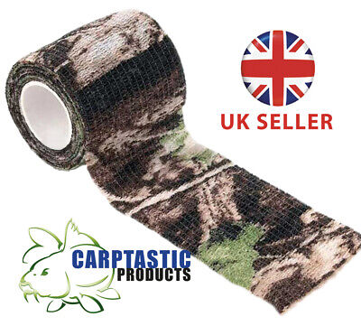 £3.50 • Buy Camo Tape Hunting Stealth Gun Wrap Real Tree Style 50mm X 4.5m Re-Useable