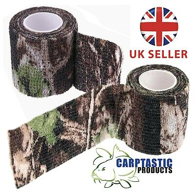 £5.95 • Buy 2 Rolls Camo Tape-Hunting Stealth Gun Wrap-Real Tree Pattern-Re-Useable