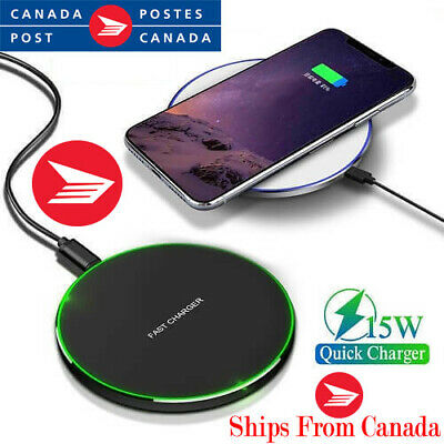 $ CDN10.99 • Buy NEW! Android, IPhone Wireless Charger, Qi Enabled Phones Only