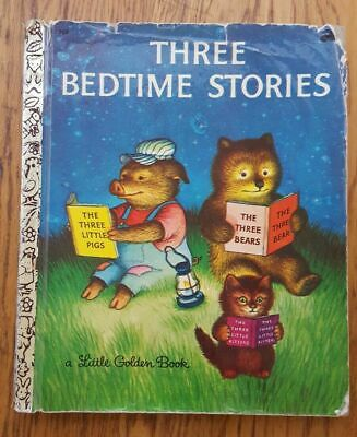 £3.54 • Buy Vintage Little Golden Books Three Bedtime Stories 1969 #309