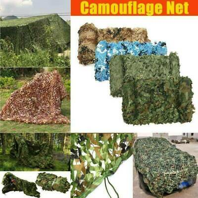 Camouflage Net Camo Netting Army Camping Shooting Hunting Hide Woodland Game Net • 5.99£
